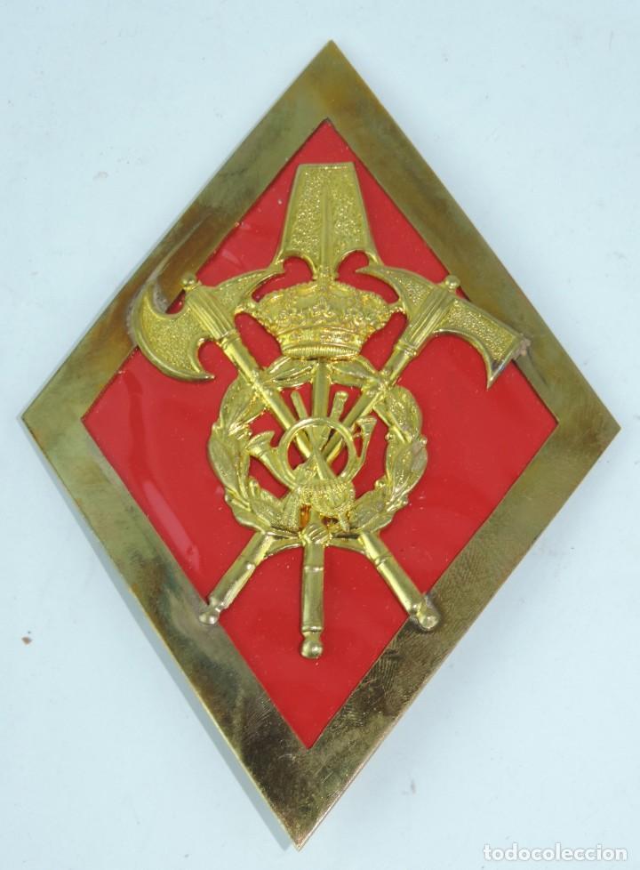 ROMBO DE GASTADOR, INFANTERIA, GRAN TAMAÑO MIDE 11 X 15,8 CMS. (Militar - Insignias Militares Españolas y Pins)