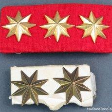 Militaria: EMBLEMA MILITAR TENIENTE CORONEL Y EMBLEMA CORONEL SIGLO XX. Lote 165632218