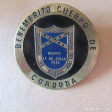 Militaria: PLACA INSIGNIA CHAPA MUTILADOS GUERRA CIVIL CORDOBA. Lote 166309038