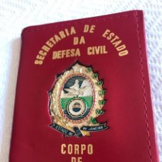 Militaria: PLACA CON SU FUNDA SECRETARÍA DE ESTADO DEFENSA CIVIL .. Lote 166409154