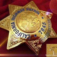 Militaria: INSIGNIA PLACA DE POLICIA AMERICANA ESTRELLA DE CALIFORNIA HIGHWAY PATROL TRAFFIC OFFICER. Lote 166759641