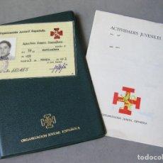 Militaria: CARPETILLA CON EL CARNET Y LAS ACTIVIDADES JUVENILES DE LA ORGANIZACIÓN JUVENIL DE ESPAÑA - OJE. Lote 166906616