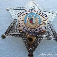 Militaria: INSIGNIA PLACA DE POLICIA AMERICANA ESTRELLA DE SHERIFF DEL ESTADO DE MISSOURI EN ESTADOS UNIDOS. Lote 52855492