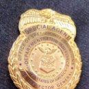 Militaria: INSIGNIA PLACA DE POLICIA AMERICANA AGENTE ESPECIAL DEL DEPARTAMENTO DE LAS FUERZAS AEREAS DE U.S.A. Lote 167661593