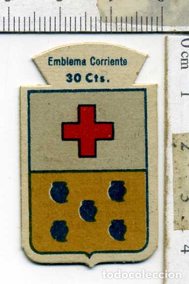 EMBLEMA AUXILIO SOCIAL DE SOLAPA SERIE B Nº 62 BERBENA CORRIENTE 30 CTS (Militar - Insignias Militares Españolas y Pins)