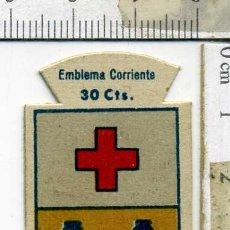 Militaria: EMBLEMA AUXILIO SOCIAL DE SOLAPA SERIE B Nº 62 BERBENA CORRIENTE 30 CTS. Lote 167751288