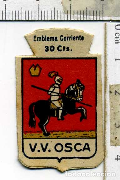 EMBLEMA AUXILIO SOCIAL DE SOLAPA SERIE B Nº 286 HUESCA CORRIENTE 30 CTS (Militar - Insignias Militares Españolas y Pins)