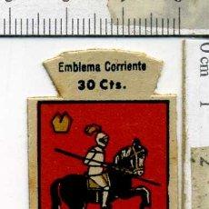 Militaria: EMBLEMA AUXILIO SOCIAL DE SOLAPA SERIE B Nº 286 HUESCA CORRIENTE 30 CTS. Lote 167751352