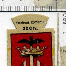 Militaria: EMBLEMA AUXILIO SOCIAL DE SOLAPA SERIE B Nº 278 VALENCIA CORRIENTE 30 CTS. Lote 167751644