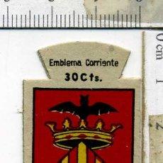 Militaria: EMBLEMA AUXILIO SOCIAL DE SOLAPA SERIE B Nº 278 VALENCIA CORRIENTE 30 CTS. Lote 167751680