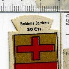 Militaria: EMBLEMA AUXILIO SOCIAL DE SOLAPA SERIE B Nº 131 ARRIA CORRIENTE 30 CTS. Lote 167751840