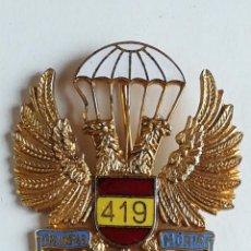 Militaria: INSIGNIA 419 CURSO PARACAIDISMO EJÉRCITO ESPAÑOL - DISTINTIVO BRIGADA PARACAIDISTA. Lote 167824632