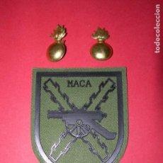 Militaria: PARCHE MANDO ARTILLERÍA CAMPAÑA+INSIGNIAS DE ARTILLERÍA. Lote 167963732
