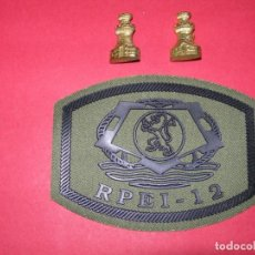 Militaria: PARCHE RPEI-12+INSIGNIAS ARMA DE INGENIEROS. Lote 167963912