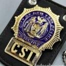 Militaria: INSIGNIA PLACA DE POLICIA DE DETECTIVE DEL CSI EN NEW YORK IDEAL PARA COLECCIONISTAS Y FANS DE CSI. Lote 168590005