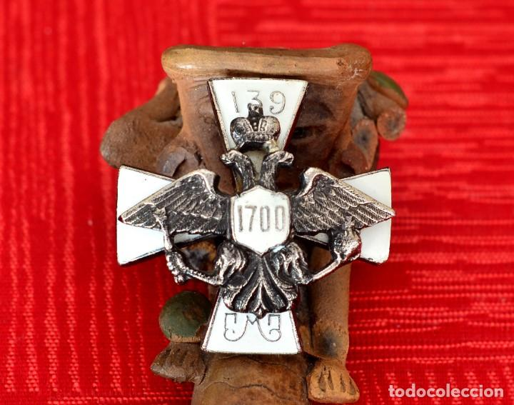 INSIGNIA IMPERIAL RUSA DEL 139º REGIMIENTO MORSHANSKY (Militar - Insignias Militares Extranjeras y Pins)