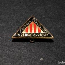 Militaria: ANTIGUA INSIGNIA DE ESQUERRA REPUBLICANA DE CATALUNYA. GUERRA CIVIL. Lote 168826408