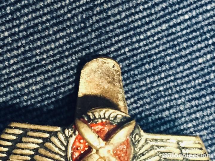 Militaria: PIN AVIACION ROKISKI FRANCO METAL PINTADO CORONA ASPAS ALAS HOJAL 18X22MM - Foto 3 - 169113480