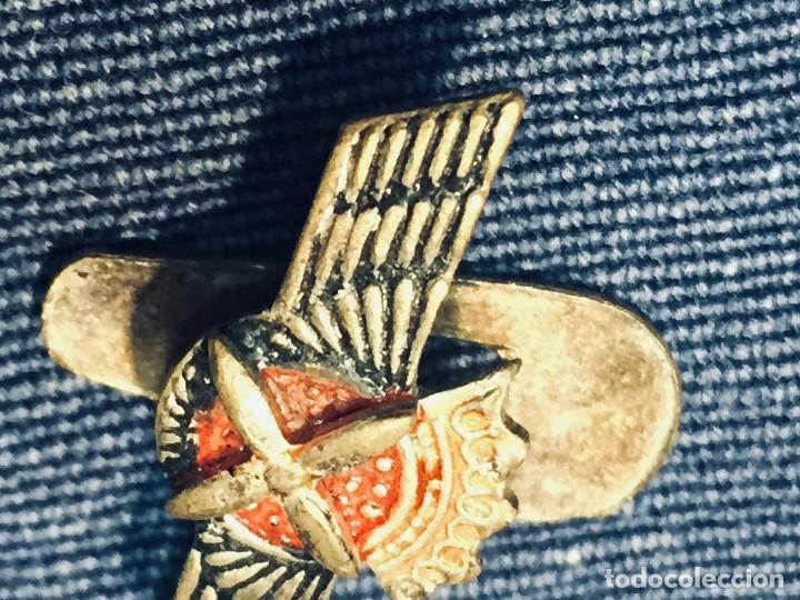 Militaria: PIN AVIACION ROKISKI FRANCO METAL PINTADO CORONA ASPAS ALAS HOJAL 18X22MM - Foto 6 - 169113480