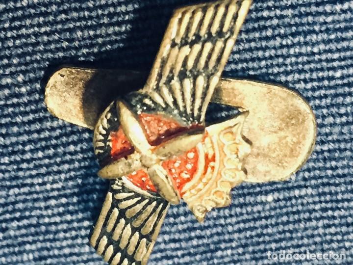 Militaria: PIN AVIACION ROKISKI FRANCO METAL PINTADO CORONA ASPAS ALAS HOJAL 18X22MM - Foto 7 - 169113480