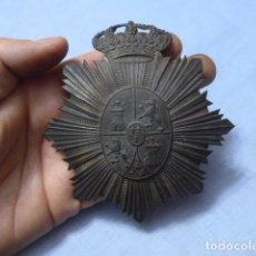 Militaria: * ANTIGUO EMBLEMA DE GENERAL ALFONSINO PARA CASCO, ALFONSO XIII, ORIGINAL. ZX. Lote 169121404