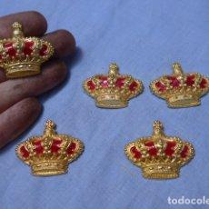 Militaria: * LOTE 5 EMBLEMA DE CORONA REAL, EPOCA DE JUAN CARLOS I, ORIGINALES. ZX. Lote 169225576