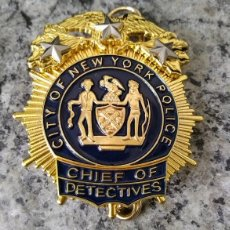 Militaria: INSIGNIA PLACA DE POLICIA AMERICANA JEFE DE LOS DETECTIVES DE CITY OF NEW YORK POLICE DEPARTMENT. Lote 178038364