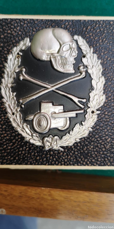 CHAPA O PLACA CONTRA CARROS ÉPOCA GUERRA CIVIL (Militar - Insignias Militares Españolas y Pins)