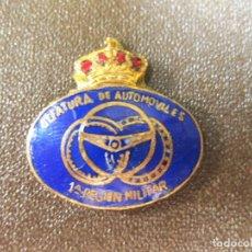 Militaria: INSIGNIA ESMALTADA DE LA JEFATURA DE AUTOMÓVILES - 1ª REGIÓN MILITAR. Lote 169995704