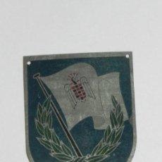Militaria: PLACA METALICA FALANGE, SEU DE LOS II JUEGOS UNIVERSITARIOS NACIONALES 1945, MIDE 6,7 X 4,5 CMS.. Lote 170493776