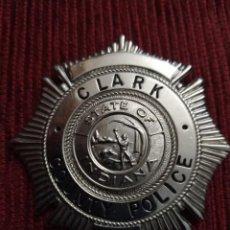 Militaria: PLACA BADGE POLICIA CONDADO, ESTADO DE INDIANA , CLARK COUNTY POLICE ESTADOS UNIDOS. Lote 170537516