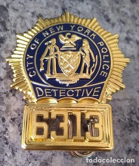 INSIGNIA PLACA DE POLICIA AMERICANA DETECTIVE Nº 6313 CITY OF NEW YORK POLICE (Militar - Insignias Militares Extranjeras y Pins)