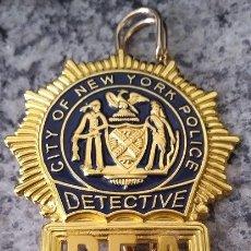 Militaria: INSIGNIA PLACA DE POLICIA AMERICANA DETECTIVE DE LA DEA DE CITY OF NEW YORK POLICE. Lote 170921994