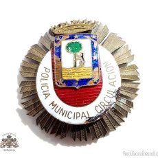 Militaria: PLACA DEL CUERPO DE POLICÍA MUNICIPAL CIRCULACIÓN. Lote 171107585
