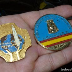 Militaria: DIFICIL LOTE INSIGNIA PELERINAGE MILITAIRE INTERNACIONAL LOURDES PEREGRINACIÓN MILITAR EJERCITO. Lote 171272084