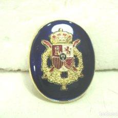 Militaria: PIN ISIGNIA - ESCUDO RELIEVE CASA REAL - 4 CMS- MAXIMO DETALLE - MEDALLA OJAL ESPAÑA ESPAÑOLA . Lote 171324834