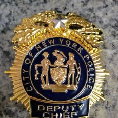 Militaria: INSIGNIA PLACA DE POLICIA AMERICANA DEPUTY CHIEF JEFE ADJUNTO O SUBJEFE DE CITY OF NEW YORK POLICE. Lote 171360873