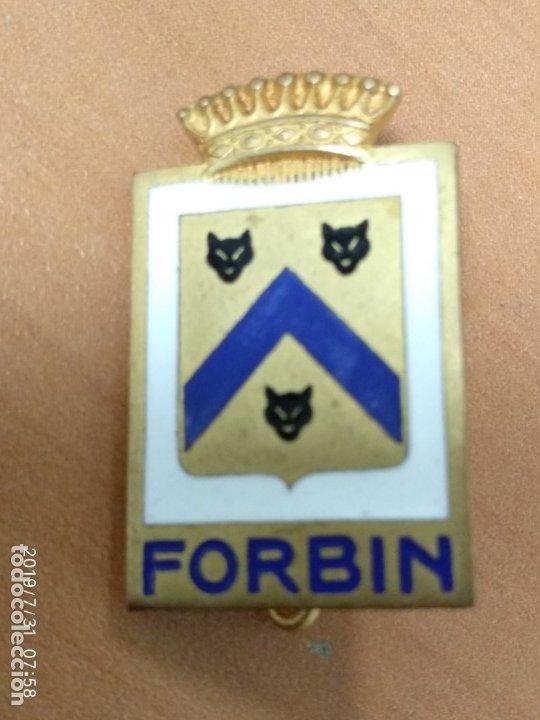 INSIGNIA DEL BARCO FRANCES FORBIN, 2,8 CM (Militar - Insignias Militares Extranjeras y Pins)