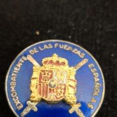 Militaria: PIN INSIGNIA EXCOMBATIENTES DE LAS FUERZAS ESPAÑOLAS. Lote 173187430