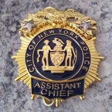 Militaria: INSIGNIA PLACA DE POLICIA AMERICANA RANGO DE SUBJEFE DE LA CITY OF NEW YORK POLICE. Lote 173878424
