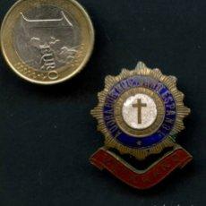 Militaria: GUERRA CIVIL POST, INSIGNIA, ADORADOR NOCTURNO ESPAÑOL, VETERANO. Lote 174427108