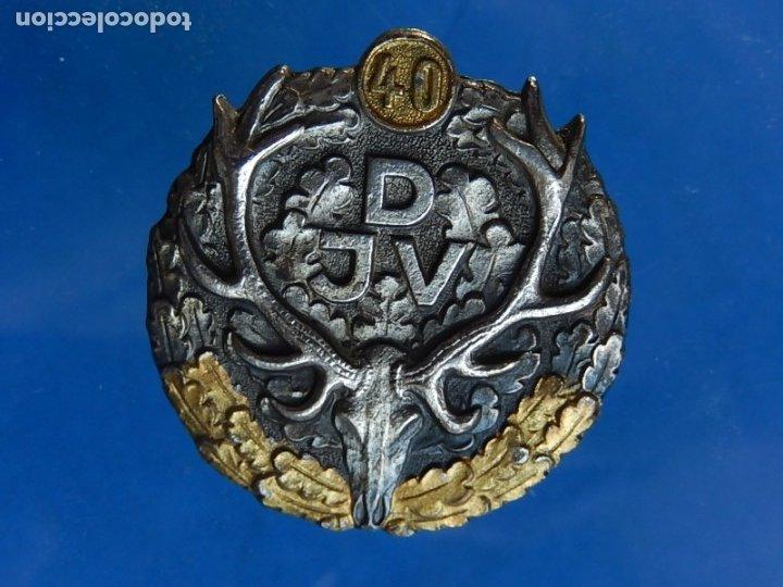 Militaria: Alemania. Insignia de la Asociación Alemana de Caza. Premio 40 años. Aproximadamente es de 1946-1950 - Foto 2 - 43166113