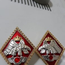 Militaria: PAREJA DE ROMBOS.ACADEMIA GENERAL DEL EJERCITO DEL AIRE. Lote 174594438