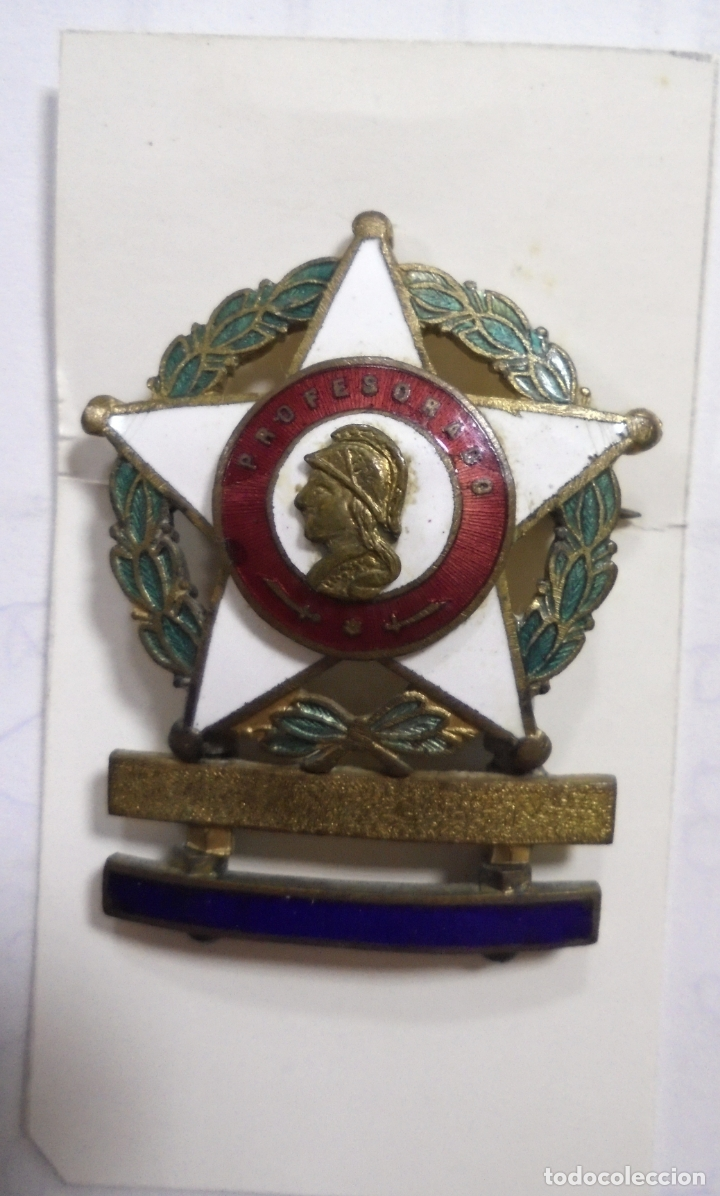 MEDALLA PROFESORADO MILITAR. ESMALTE. POSGUERRA. BUENA CALIDAD. RELIEVE (Militar - Insignias Militares Españolas y Pins)