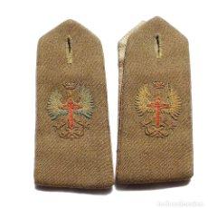 Militaria: JUEGO DE HOMBRERAS EJERCITO ESPAÑOL ÉPOCA DE FRANCO. . Lote 175416429