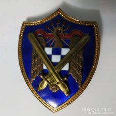 Militaria: PLACA ESMALTADA MILICIA UNIVERSITARIA SEU. 45X60MM. Lote 175553700
