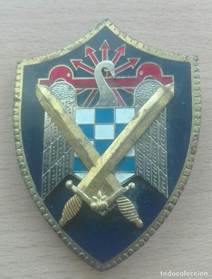 PLACA ESMALTADA MILICIAS UNIVERSITARIAS. (Militar - Insignias Militares Españolas y Pins)