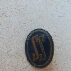 Militaria: INSIGNIA DE SOLAPA. SERVICIO SOCIAL. 2º MODELO, EN AZUL, ESMALTADA. Lote 175895683