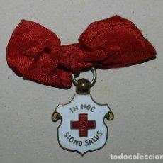 Militaria: ANTIGUA MEDALLA DE SANIDAD, ORDEN DE LA CRUZ ROJA ESPAÑOLA, IN HOC SIC - NO SALUS, VARIEDAD CON LAZO. Lote 177313073
