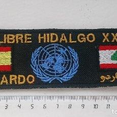 Militaria: PARCHE SOLDADO ESPAÑOL MISIÓN ONU EN LÍBANO . Lote 177488374